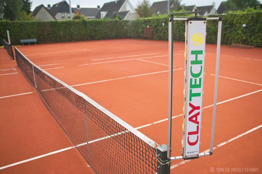 Claytech tennisbanen bij Sportcentrum Oudenrijn gereed